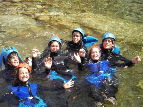 Corse canyoning Tavignanu en famille