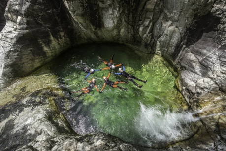 Vasque naturelle canyon de la Richiusa
